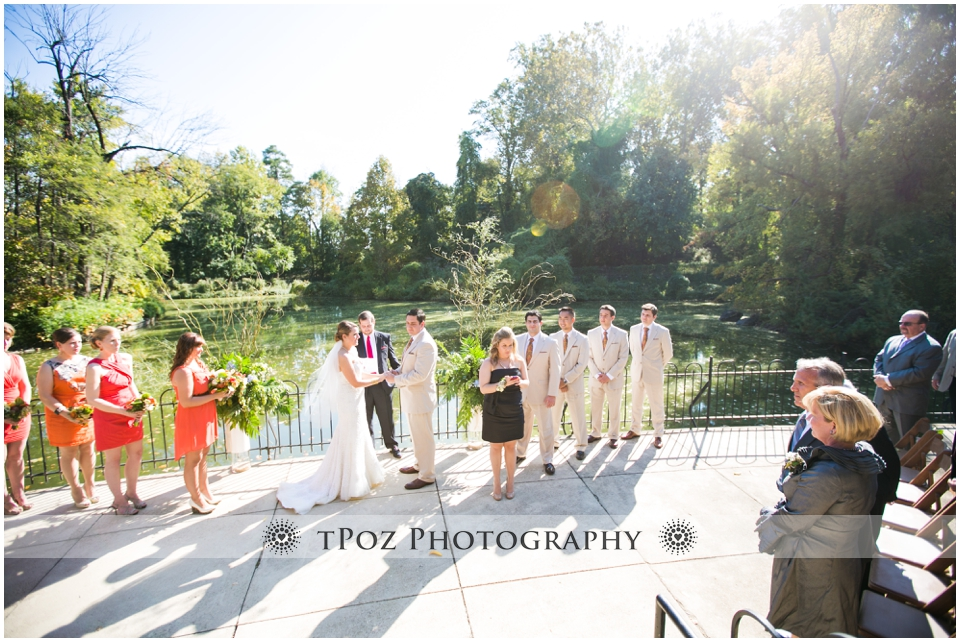 Maryland Zoo Wedding Baltimore Lakeside Pavilion Ceremony