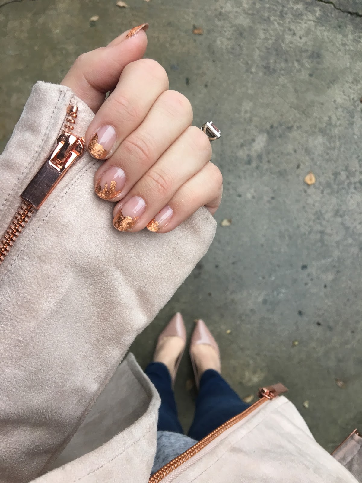 It\'s because I think too much: Rose Gold Foil Nail Art