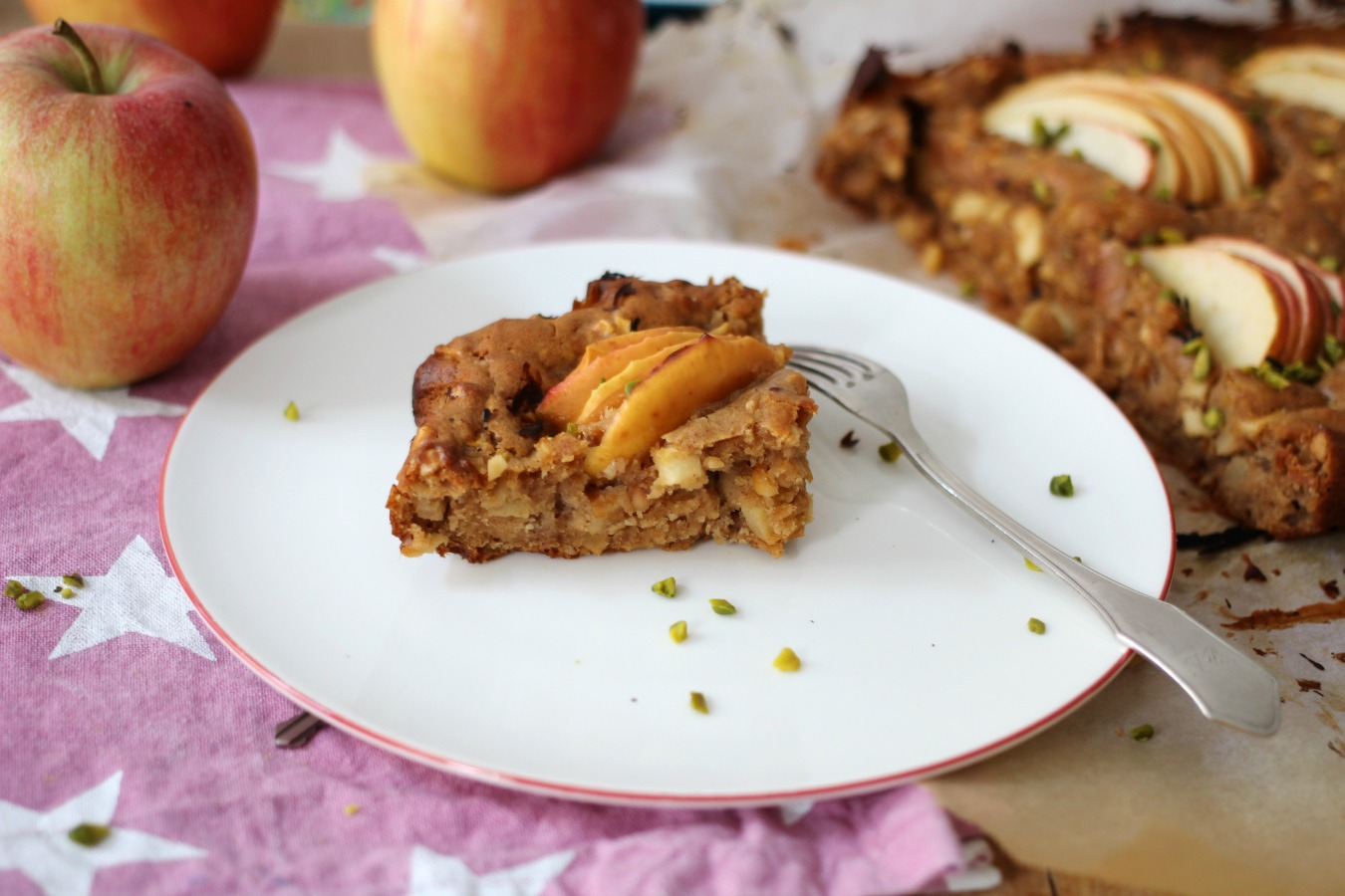 Low Carb Apfel Erdnussbutterkuchen