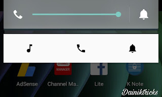 Android mobile notification bar