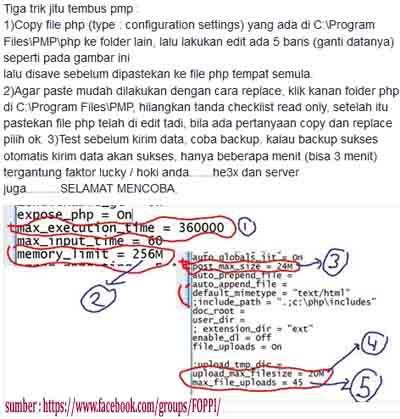 Solusi Mengatasi Tidak Bisa Kirim PMP Ke Server