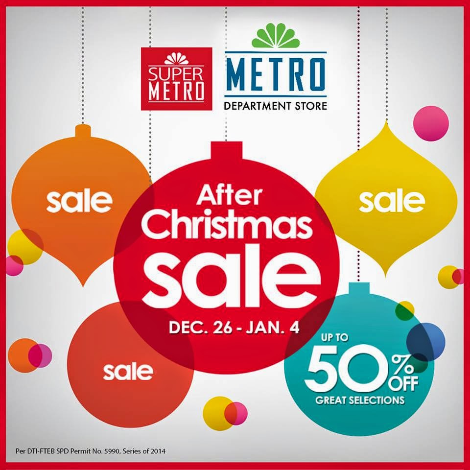 Manila Shopper Metro Stores After Christmas Sale Dec