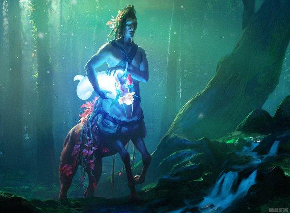 As incríveis ilustrações de fantasia para o game Magic ... Karametras Favor