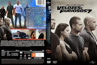 Filme Velozes e Furiosos 7 (Fast and Furious 7) DVD Capa