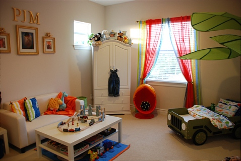 Quarto Infantil Safari com cama de Jipe