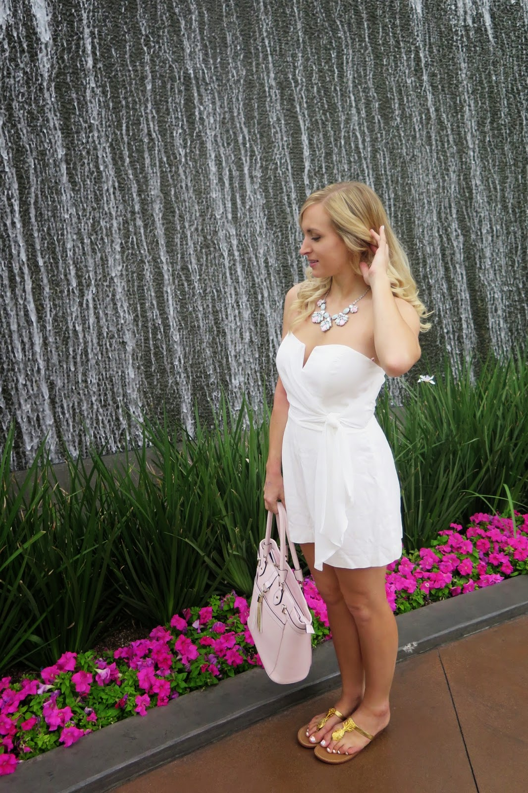 white romper for summer