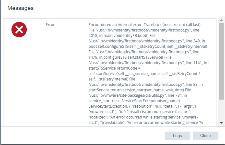 The Administrator Desk: VCSA 6 5 Failed to complete