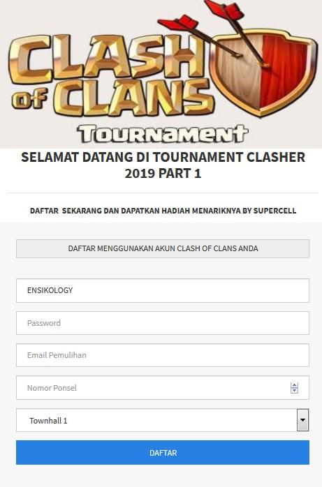 Script Phising Clash of Clans Tournament Clasher
