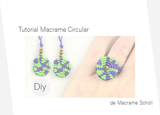 macrame, pendientes, anillos, circulares, tutoriales, manualidades
