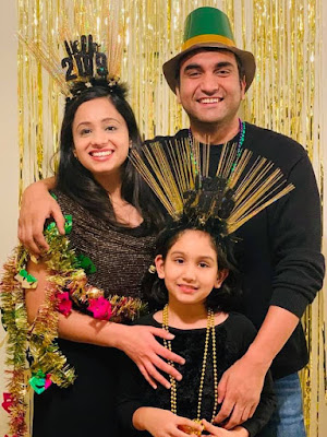 lalit shokeen with his wife neha and daughter netya