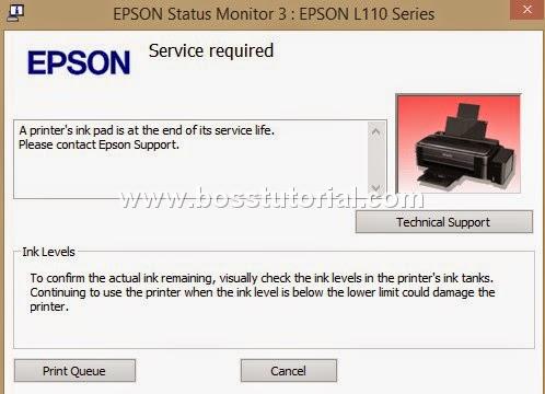 Cara Mengatasi Error Printer Epson L110 L120 L300 L350 L355