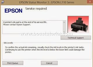 Cara Mengatasi Error Printer Epson L100, L110, L201, L300, L355
