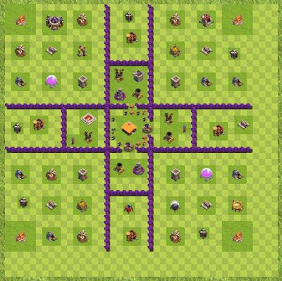 War Base Town Hall Level 7 By Dennis Ehrentraut (TH 7 Layout)