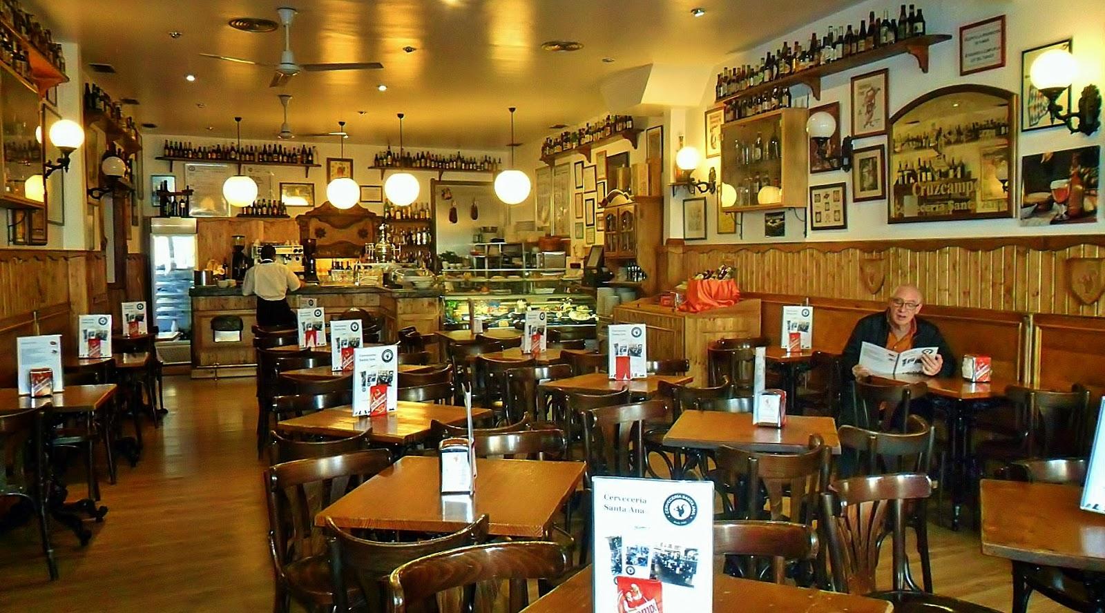 Antiguos caf s de madrid y otras cosas de la villa la for Decoracion de cervecerias