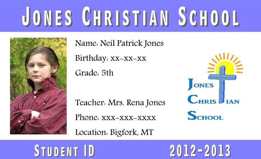 Rena Jones School IDs