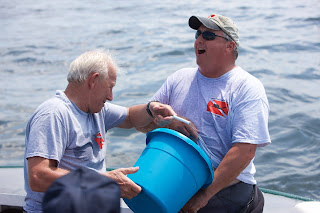 two divers from the Point Pleasant Beach Dive Team - Chet Nesley and Joe Southard.