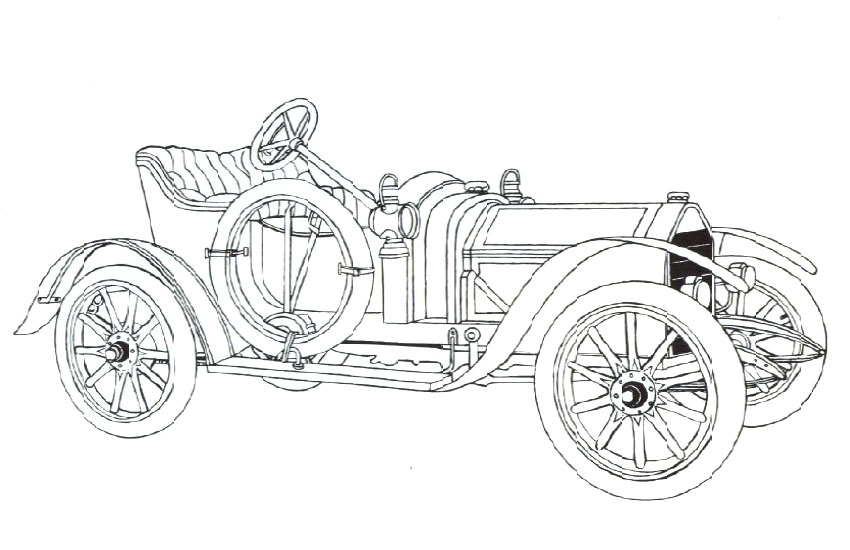 Classic Cars Coloring Pages For Adults (8 Image
