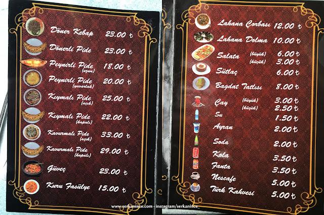 Çardak Pide Ankara menü ve fiyat