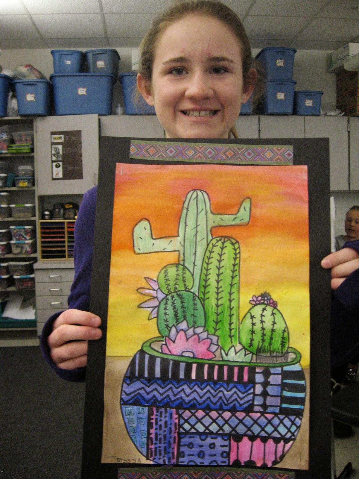 Jamestown Elementary Art Blog 5th Grade Mexican Cacti