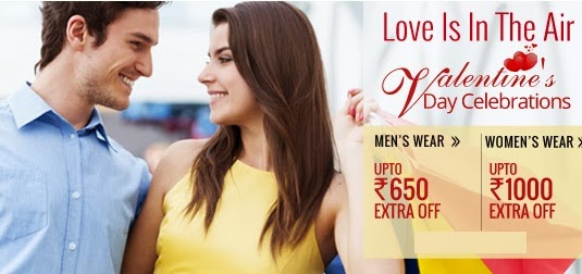 Valentine Day Offer: Rs.350 Off and Rs.650 Off on Men's Wear | Rs.400 Off and Rs.1000 Off on Women's Wear at HomeShop18