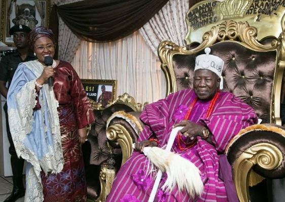 Aisha Buhari pay a courtesy visit to HRH Olubadan of Ibadan Oba Saliu Olasupo Adetunji Aje Ogungunnuso1