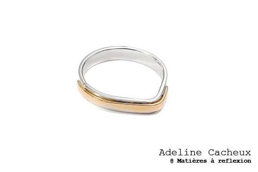 Adeline Cacheux bague or Pop Stripes