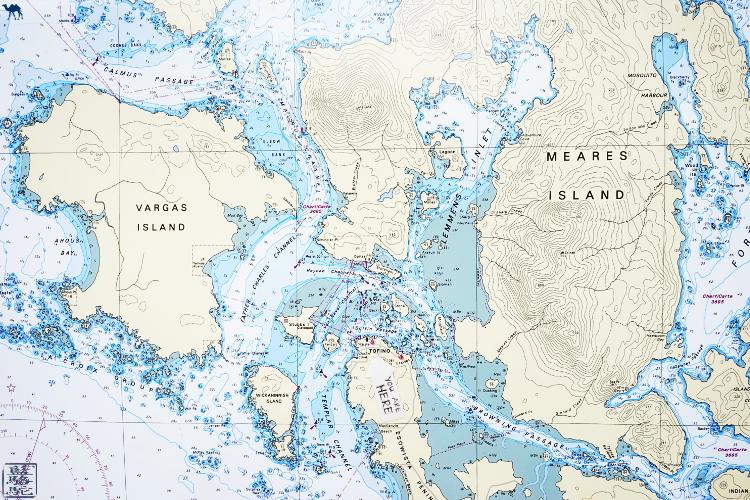 Le Chameau Bleu - Carte de Tofino et iles environnantes - Ile de Vancouver