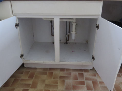 under sink cupboard