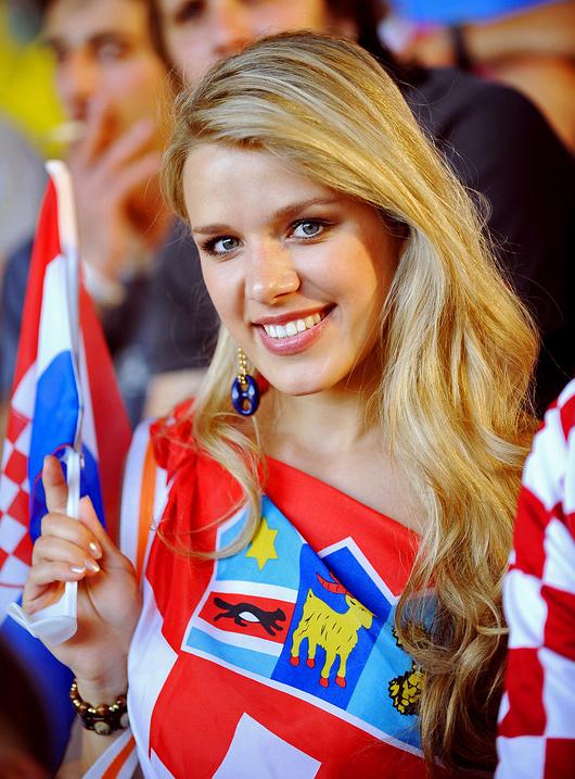 Beautiful Croatian Fans Of Euro 2012