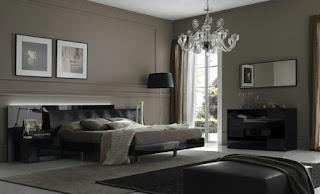 habitación decorada en gris