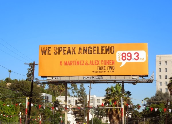 We Speak Angeleno KPCC radio billboard