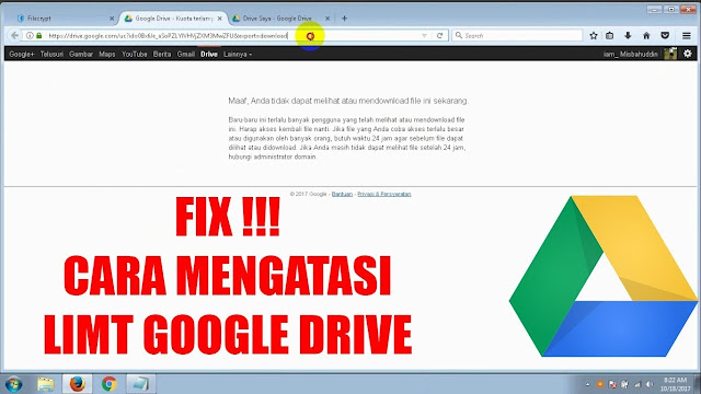 Cara Mengatasi Download Limit Pada Google Drive