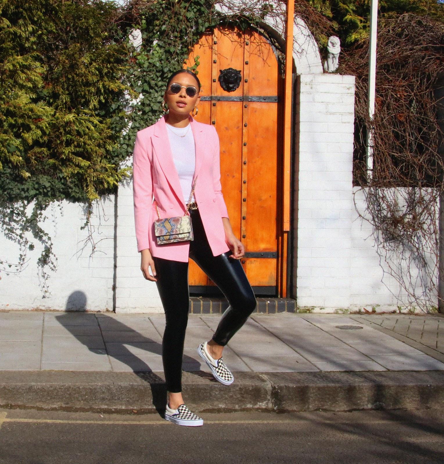 pink blazer, h&m pink blazer, pink, spring fashion