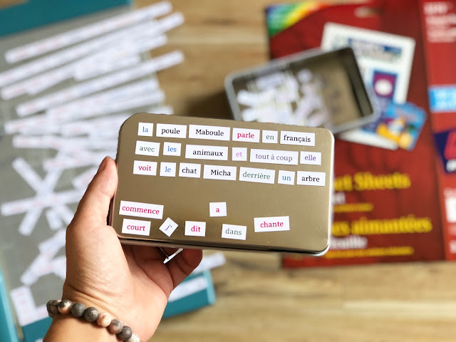DIY Magnetic Words for La poule Maboule AIM Kit - Avery Magnet Sheets