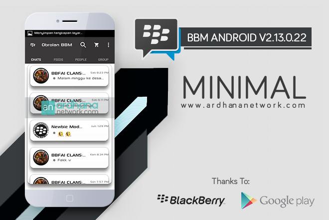 BBM Minimal V2.13.0.22 - BBM MOD Android V2.13.0.22