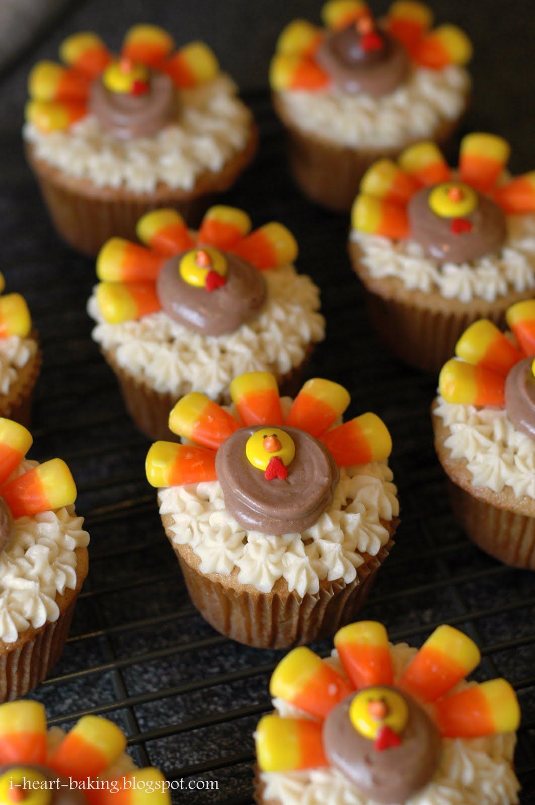 Heart Baking Thanksgiving Turkey Cupcakes Brown Sugar Pound Cakes