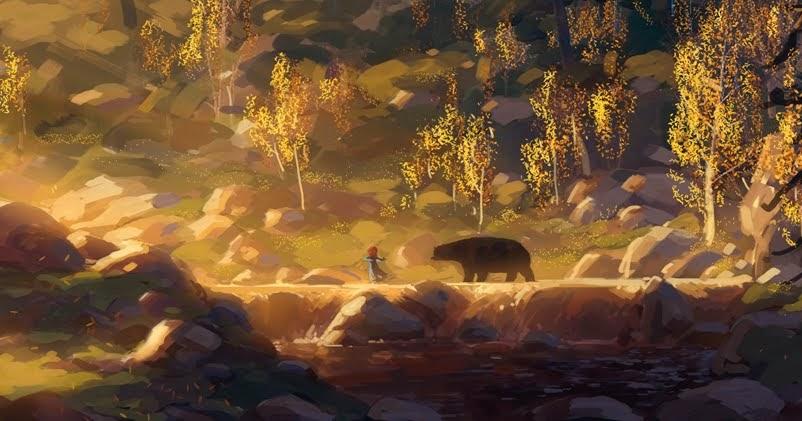 pixar artist noah kloceks beautiful brave scenery pixar