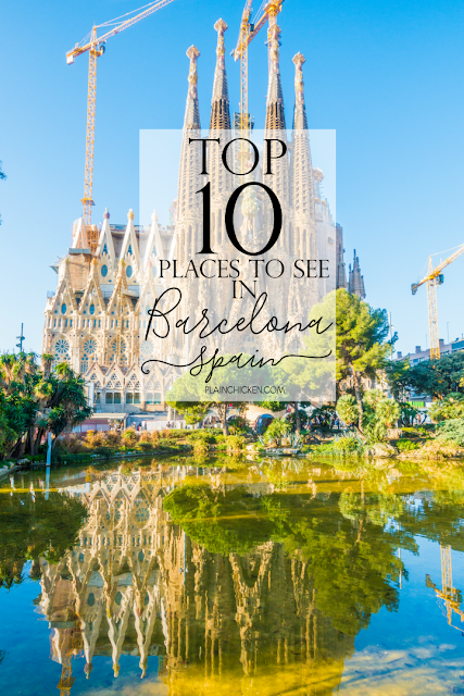 Top 10 Places to See in Barcelona Spain - ten must see places on your trip to Barcelona.