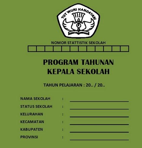 Program Kerja Tahunan Kepala Sekolah SD