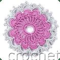 Motivo flor a crochet