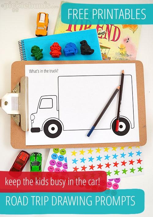 Road Trip Drawing Prompts – Free Printables