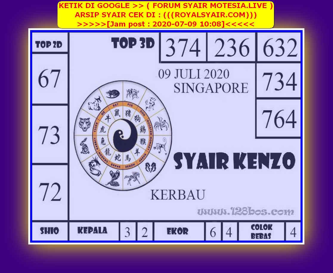 Kode syair Singapore Kamis 9 Juli 2020 141