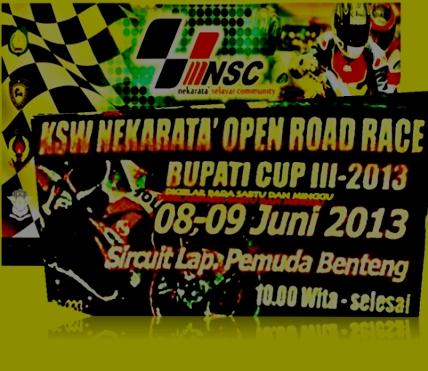 KSW ,Nekarata, Open Road Race ,2013 ,Selayar ,Bakal ,Ramai
