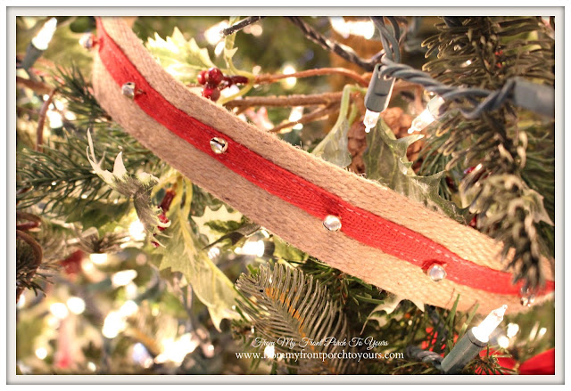 Farmhouse Christmas Tree-Jute Jingle Bell Ribbon-Home Goods-From My Front Porch To Yours