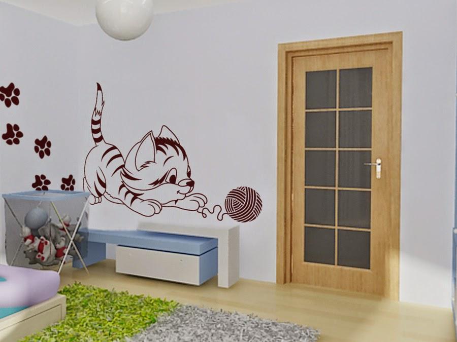 mural en la habitacin infantil