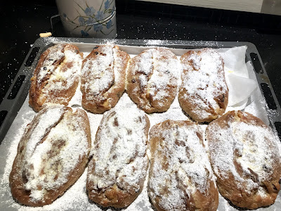Mini Stollen freshly baked for Twelfth Night