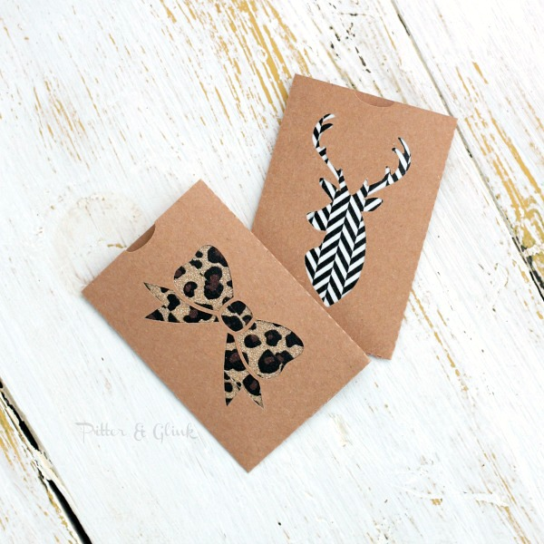 Diy Christmas Gift Card Holder: PitterAndGlink: DIY Gift Card Holders With Free Silhouette