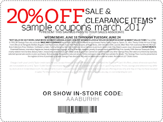 Lord & Taylor coupons march
