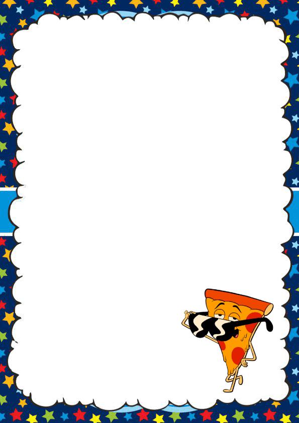 Bonita caratula para cuaderno pizza