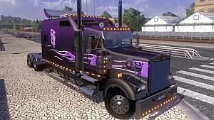 Purple Kenworth W900B Long